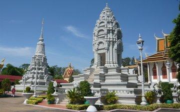 pagoda, vietnam, cambodia, royal palace, the stupa of kantha bopha