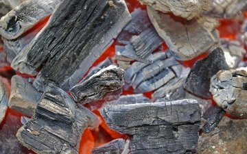 fire, coal, the fire, wood