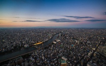 panorama, the view from the top, japan, tokyo