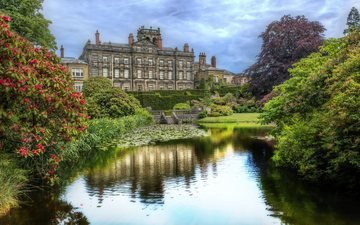 парк, замок, великобритания, сад, англия, сток-он-трент