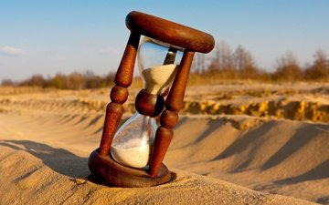 sand, day, shadow, time, hourglass