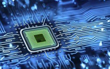 плата, дорожки, компьютер, микросхема, процессор, электронная плата
