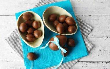 пасха, яйца, шоколад, сладкое, шоколадное яйцо.