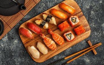рыба, палочки, суши, роллы, морепродукты, японская кухня, роллы.