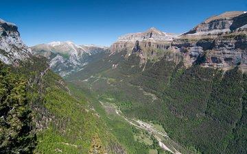 горы, природа, лес, пейзаж, долина