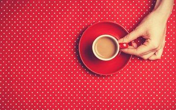 hand, coffee, cup