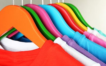 clothing, color, hanger, t-shirt
