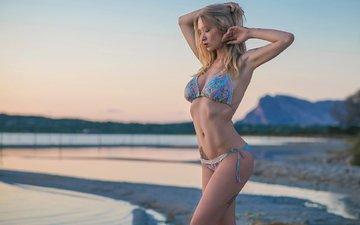 блондинка, модель, татуировка, бикини, natasha legeyda