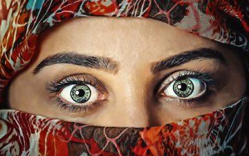 глаза, девушка, взгляд, лицо