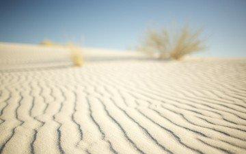 небо, песок, пустыня, белый песок
