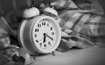black and white, watch, time, alarm clock