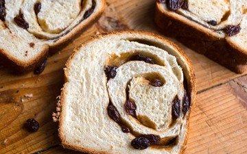 хлеб, выпечка, сдоба, изюм