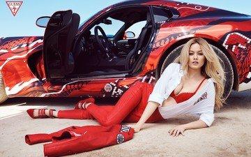блондинка, модель, двери, автомобиль, simone holtznagel
