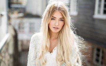 girl, blonde, look, model, hair, face, aline, yvonne söngen