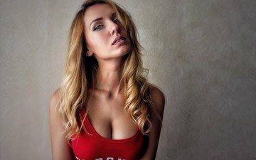girl, blonde, portrait, model, photoshoot, long hair, liana andreychuk