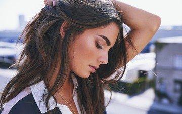 девушка, взгляд, модель, профиль, волосы, лицо