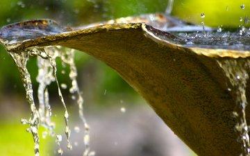 water, macro, drops, squirt, fountain