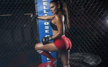девушка, сетка, спорт, фитнес
