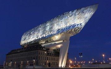 архитектура, офис, здание, бельгия, антверпен