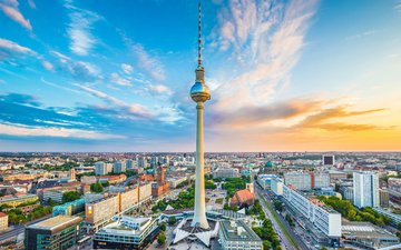 the city, germany, tower, berlin