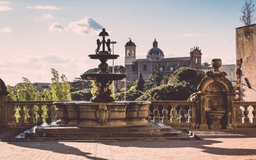 the city, fountain, italy, palace, attractions, viterbo