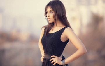 girl, pose, brunette, look, model, hair, face, actress, figure, indian, madhu shalini