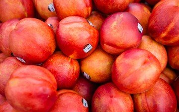 фрукты, плоды, нектарин, нектарины