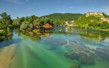 water, river, nature, home, una, bosnia