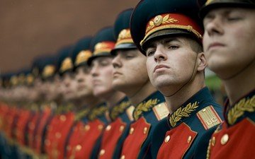 мужчины, армия, военная форма