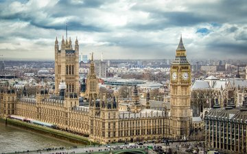 the sky, london, england, big ben, the palace of westminster, london. england