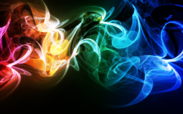 abstraction, wave, background, color, smoke, rainbow, weave