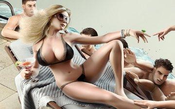 арт, девушка, грудь, игра, на диване, огромная, sims4, симс4, с большой грудью
