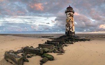 shore, lighthouse