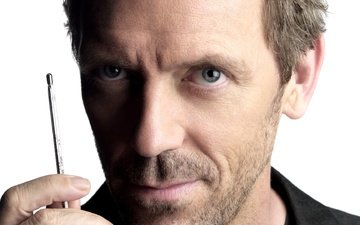 hugh laurie, the series, thermometer, dr. house, gregory house