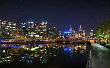 night, australia, melbourne