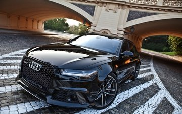 bridge, black, car, audi, audi rs6