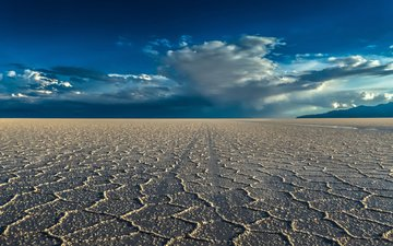 небо, пейзаж, песок, пустыня