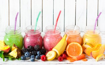 drink, fruit, berries, juice, smoothies