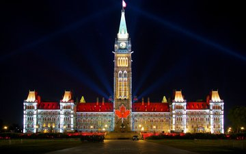 the city, canada, ontario, the center of the block, parliament hill, ottawa