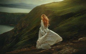 девушка, настроение, платье, прогулка