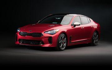автомобили, kia, kia stinger, red cars