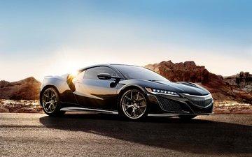 supercar, coupe, acura, acura nsx, black nsx, sports cars