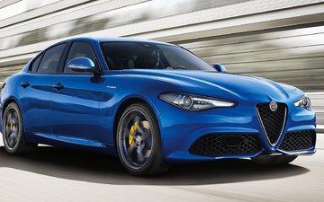 alfa romeo, car, cars, alfa romeo giulia veloce, blue alfa romeo