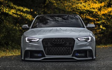 autumn, auto, audi, wet, water drops, audi rs5