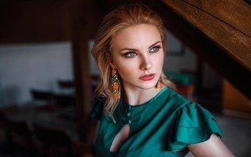 девушка, взгляд, волосы, лицо, макияж, губки, carla, дамиан piórko