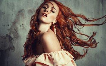 девушка, рыжая, модель, волосы, nadya, liliya nazarova