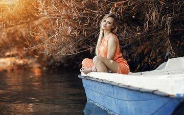 река, девушка, блондинка, модель, алессандро ди чикко