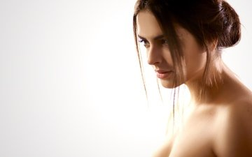 глаза, девушка, модель, волосы, губы, лицо, макияж, yana sharpova