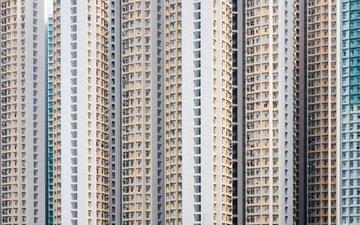 город, небоскребы, дом, китай, гон-конг, hongkong