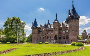 castle, the city, netherlands, the castle de haar